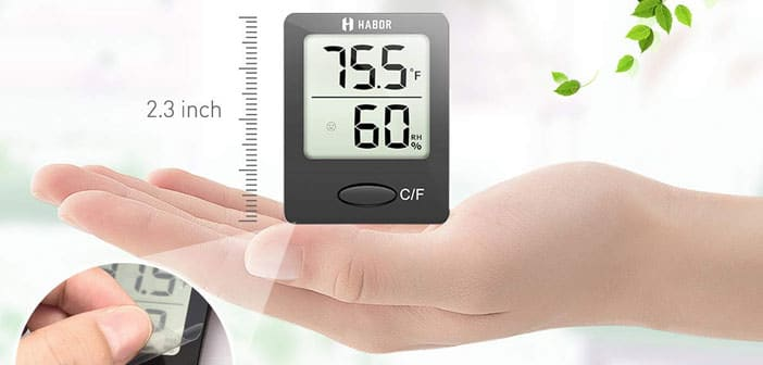 Habor Hygrometer Hygrometers Thermometer Digital Indoor Outdoor Humidity Monitor